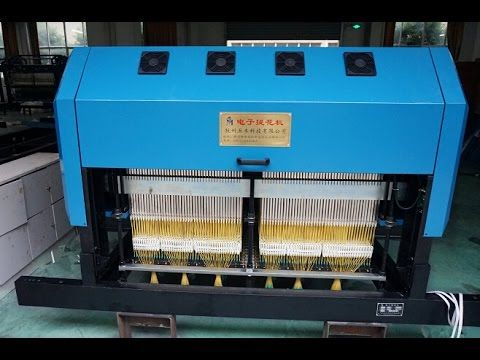 Electronic Jacquard Mahchine Running  on Terry Towel Rapier Looms-Hangzh...