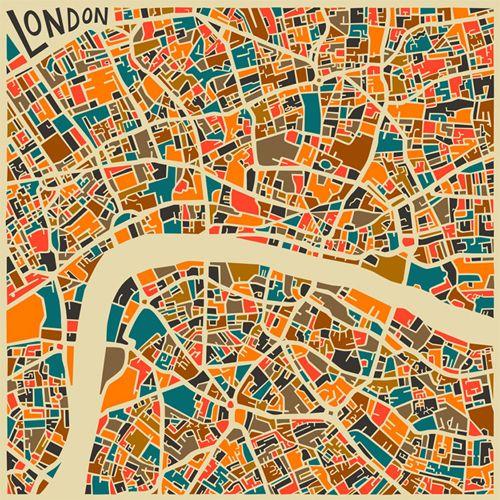 Mapas coloridos de algunas grandes ciudades del mundo