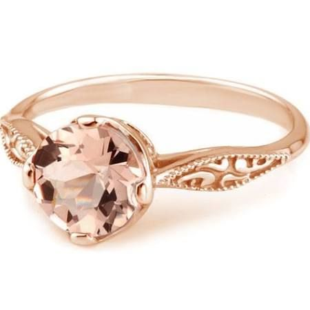 rose gold and morganite engagement ring - Google Search