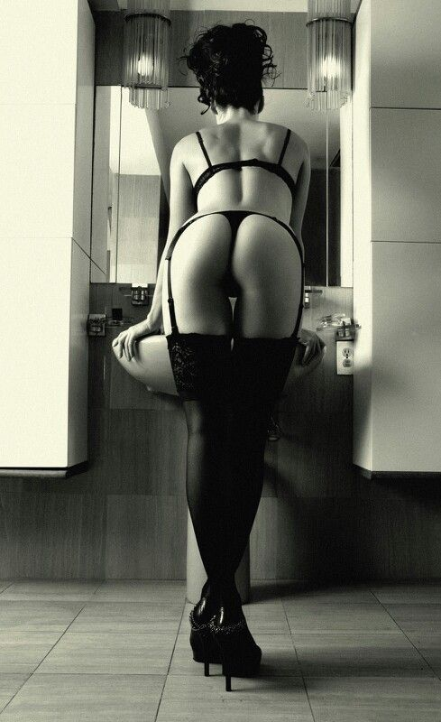 Boudoir- but not sure about leaning on a sink.  i don't think the sink is sexy.
