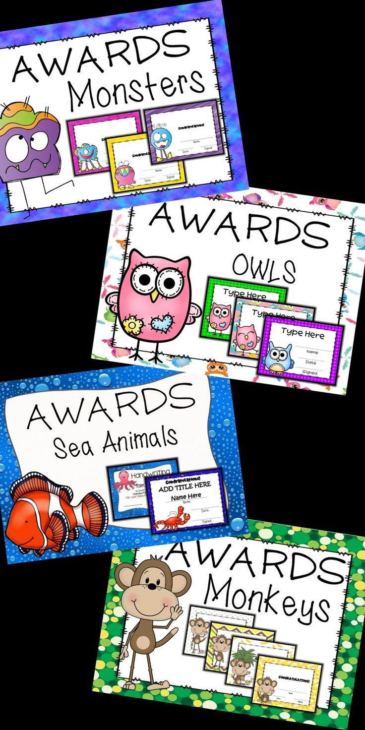 It's that time of year!! Come check out the many EDITABLE AWARDS.