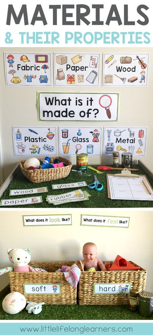 Materials and their properties | Foundation, Prep and Kindergarten Science Unit | Includes posters, printables and hands-on activity ideas for early learning | Australian Curriculum | Printables for the classroom | Chemistry strand | What are objects made from? | Properties of familiar objects #homedaycare