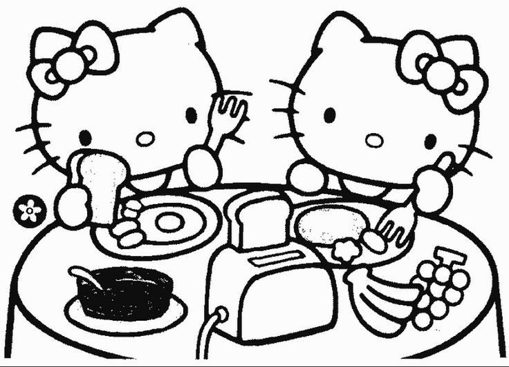 Awesome Coloring Hello Kitty Printable Pages On Free Az Find This Pin And More