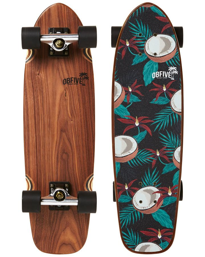 Our Coco's Nuts Cruiser features a fun coconut floral inspired print on an exotic walnut veneer deck. The board is finished off with our premium antique brass components for a more LUX look and feel.....