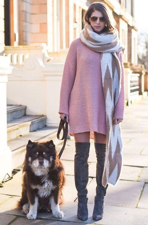 оттенки светло-розового, вязаная мода лето, стиль модные тенденции, женская уличная мода 2016 (фото 12)