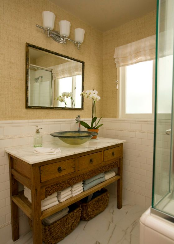 Wood Vanities For Bathrooms 110 best white bathroom with wood or dark vanity images on