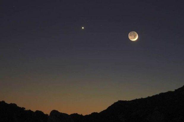 Earthshine, Crescent Moon and VenusPhotos, Sky, Earthshin, New Moon, Blog, Crescents Moon, Photography, Venus, The Moon