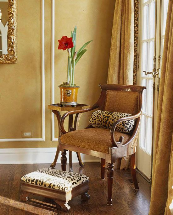 Leopard and gold - Decorating Ideas: Animal Magnetism - Traditional Home
