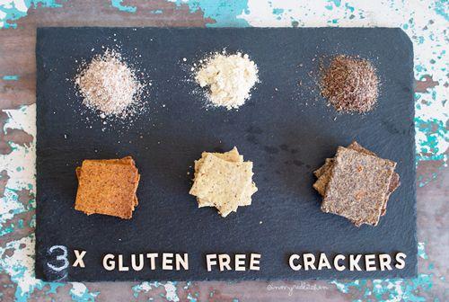 Glutenvrije crackers, 3 soorten
