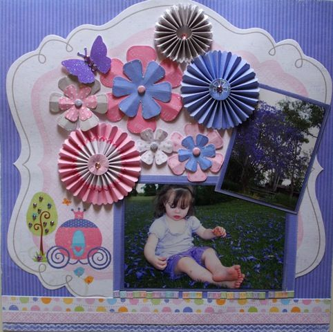 Jacaranda page created with Little Yellow Bicycle, Tiny Princess collection by Teena Hopkins for My Scrappin' Shop.