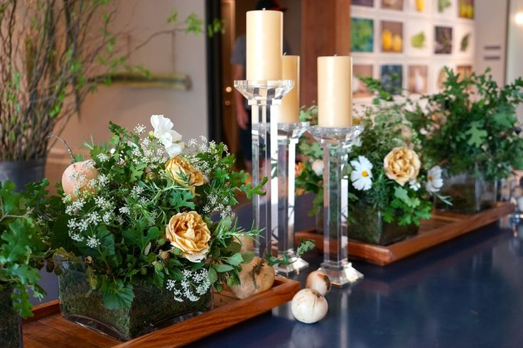 A special table arrangement for a special occasion! #RussianRiverFlowerSchool #events #floraldesign #flowerSchool #Roses #OakGalls