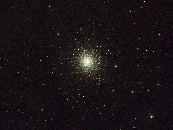 M92 globular cluster in Hercules. 8.2Kpc (26,700 light years) distant. 109 light years across. 330,000 solar masses. Taken through GRAS03 in New Mexico, USA.