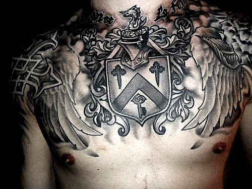 James cassells amazing chest piece i wish i could get for Asking alexandria tattoo