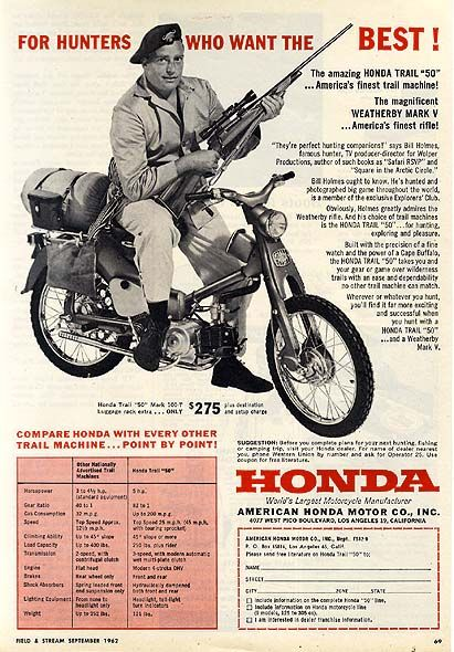 Honda 1961, USA: Die Honda Super Cub ist ein wahrer Künstler! Description from pinterest.com. I searched for this on bing.com/images