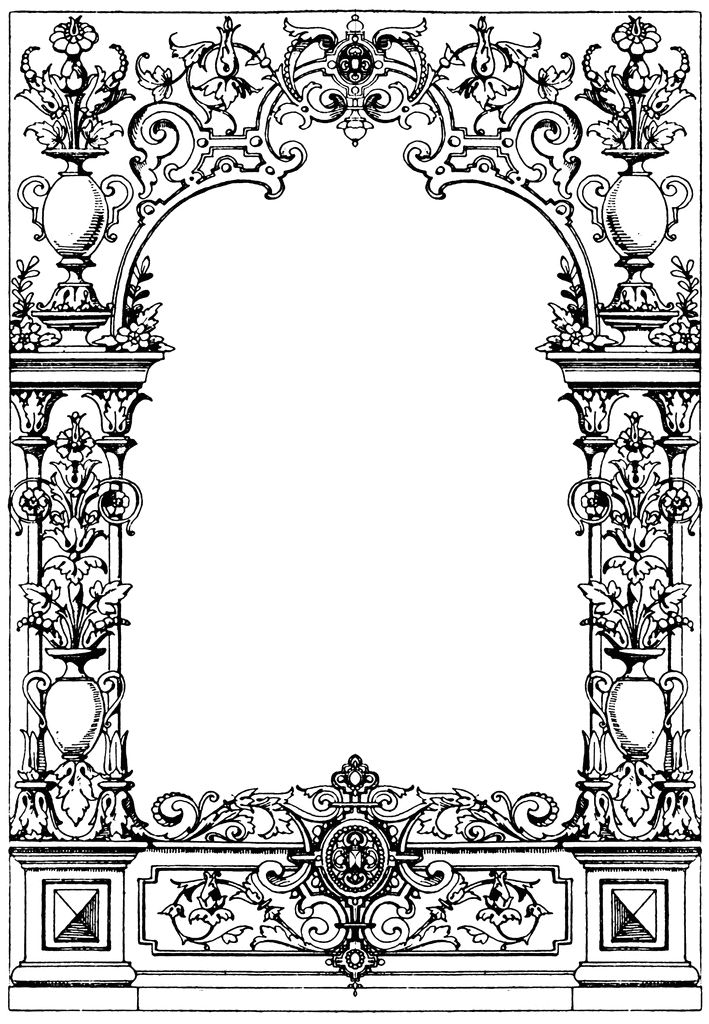 Border Typographical Frame oktouse | Frame clipart ...