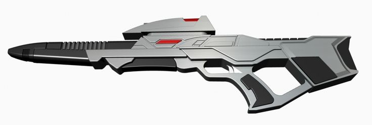 "3D-Druck fähiges Modell des ""Star Trek Mark 3 Phaser Rifle"" inkl. Elektronik"