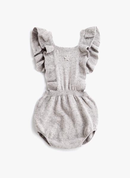 5e901da8e07 Tocoto Vintage Baby Body w  Suspenders in Grey