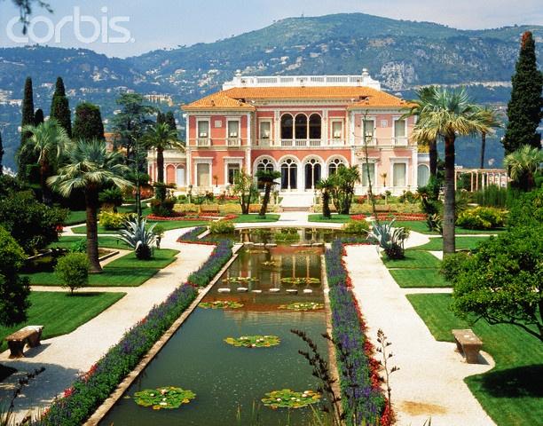 Monaco French Riviera Pink Beach House With Gardens Www