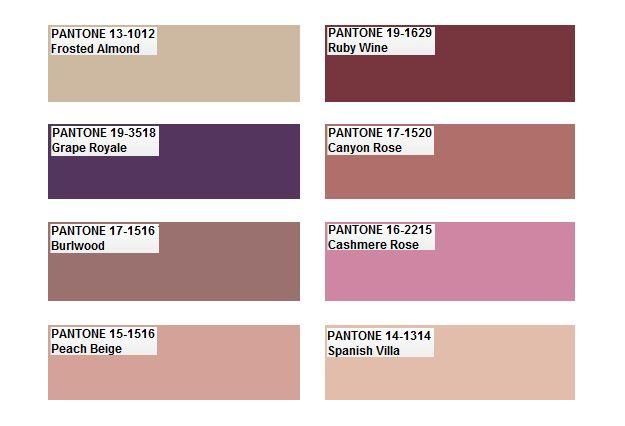 Pantone color palette 2012
