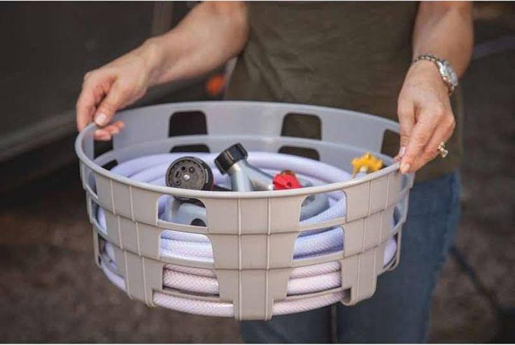 portable rv water hose reel   Rv hoses, Garage accessories