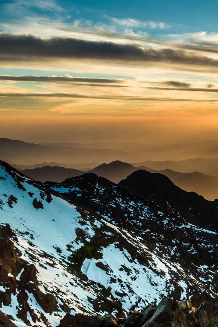 アトラス山脈の夕焼け。