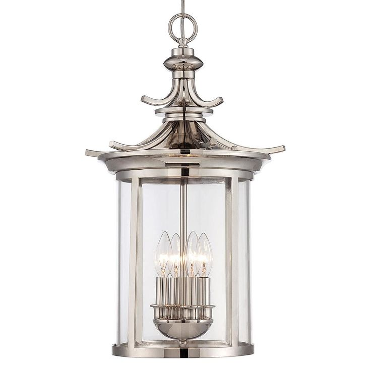 The Savoy House Epping Lantern Is A Chinoiserie Inspired Gem Gleaming Polished Nickel And Sparkling Glass Will Bring Elegant Well Crafted Illumination To
