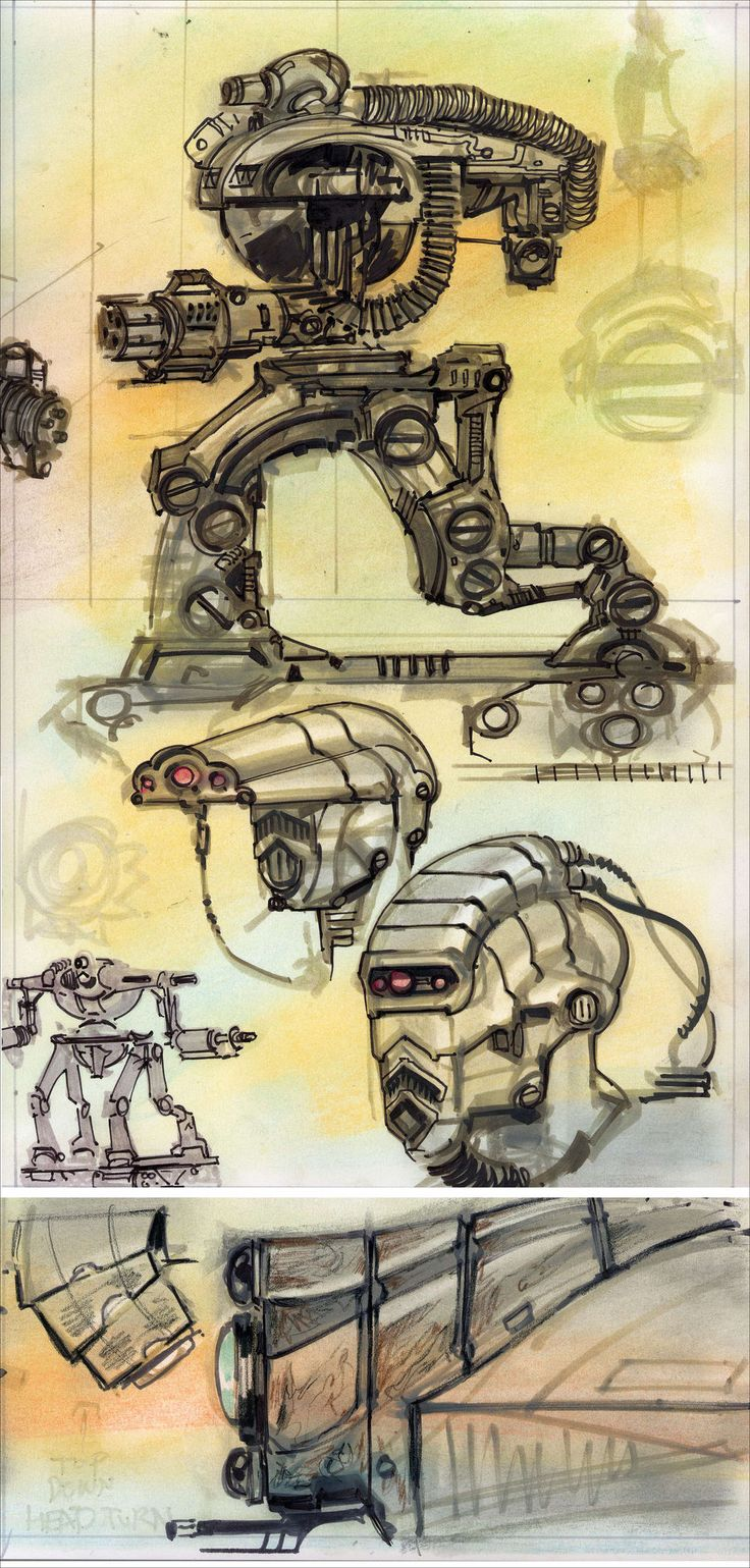 Fallout 3 robots and computers concept art