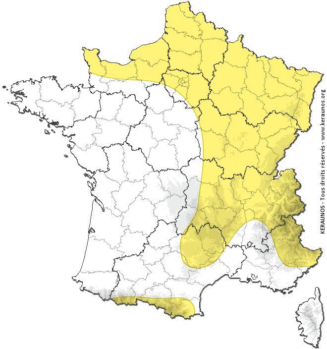KERAUNOS - Observatoire Français des Tornades et des Orages Violents - Prévision, suivi et étude des orages en France