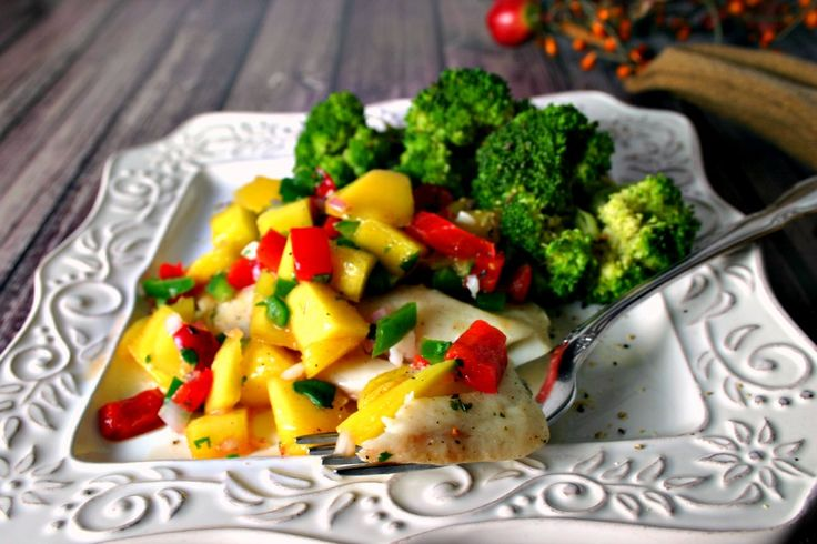From Chef Supplies by KaTom: Poached Tilapia with Mango Salsa by Chef Randy Herzog of Wilderness at the Smokies