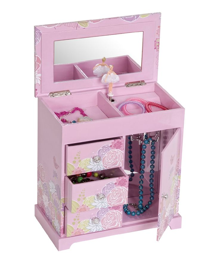 Pink Pearl Girl's Musical Ballerina Jewelry Box