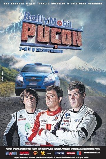 Afiche oficial @rallymobilchile Gran premio #Pucon con nuestro Chevrolet Cruze (vía @ChevroletKOVACS )