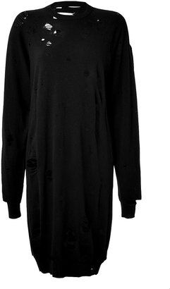 Maison  Margiela Distressed Cashmere Sweater Dress - Shop for women's Sweater -  Sweater