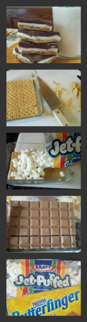 Easy 3 ingredient Butterfinger s'mores bark - This is FUN to make and soooo delicious! I love s'mores season and who doesn't love Butterfingers!