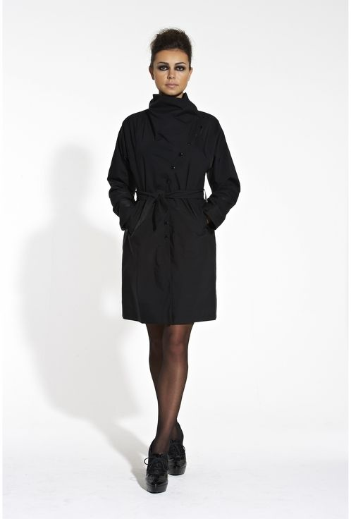 https://www.cityblis.com/6462/item/5370  Dress coat, at 20.00% off by Mrsblak.com  The Dress Coat is exactly what it says. It is a coat that feels spacious and comfortable, but yet looks fitted like a dress. The neck fastening allows for different looks, and the belt sinches in the waist to create that fitted feel. The raglan-esk sleeves allows for that all important room needed f...