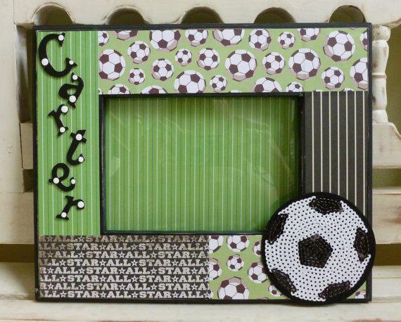 Soccer 5x7 Frame Futbol Football All-Star Ball by DippityDaisy