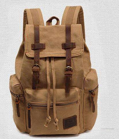 Опрятный стиль холст рюкзак унисекс сумка школьная сумка три цвета