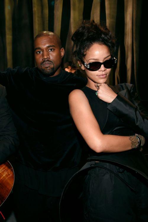 Kanye & Rihanna at the 57th Annual Grammy Awards