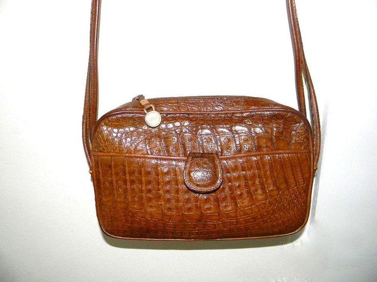 Vintage Chloe Genuine Crocodile Shoulder bag Brown, 1980 ...