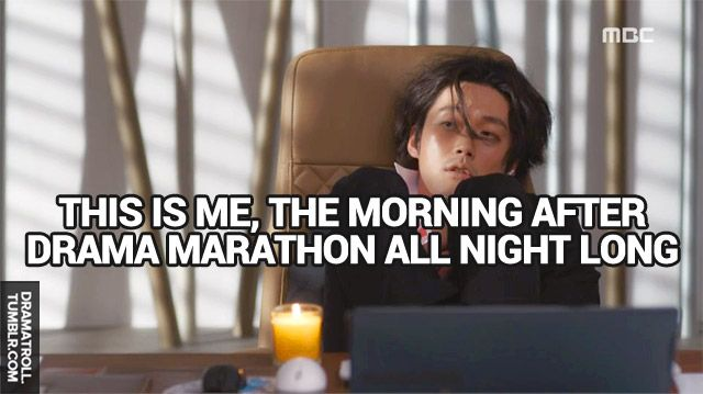 lol! Omg, that's me all days of the week eecept friday #Fated to Love You ♡ #Kdrama