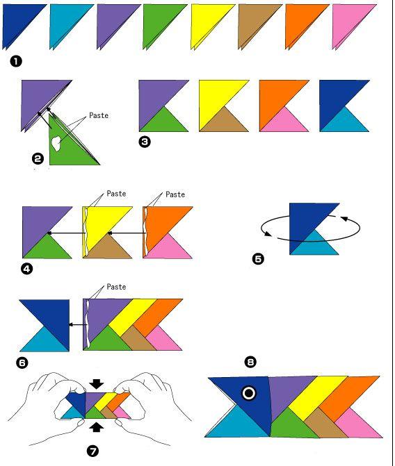 складной оригами рыбу | для начинающих