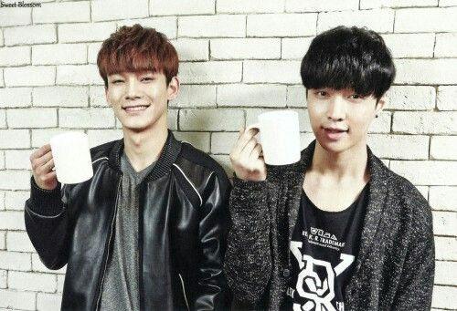 #exo #Chen #Lay #exo_m #korea #china #tea #cute