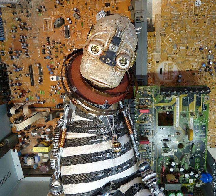 Купить Инопланетный странник. - чёрно-белый, кукла ручной работы, авторская работа, авторская кукла
