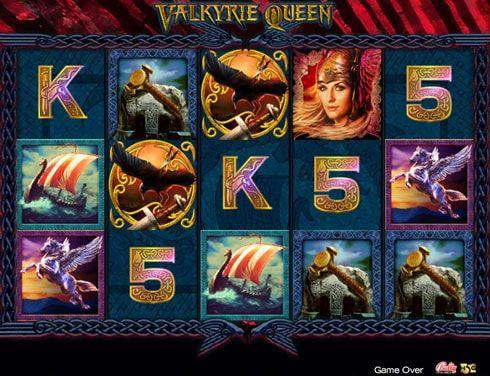 Игровые автоматы Valkyrie Queen на реальные деньги.  Если вам нравятся сюжеты из скандинавской мифологии, игровой автомат Вулкан Valkyrie Queen обязательно заинтересует вас игрой на реальные деньги. Здесь главную роль играет королева Валькирий, а основными символами являю�