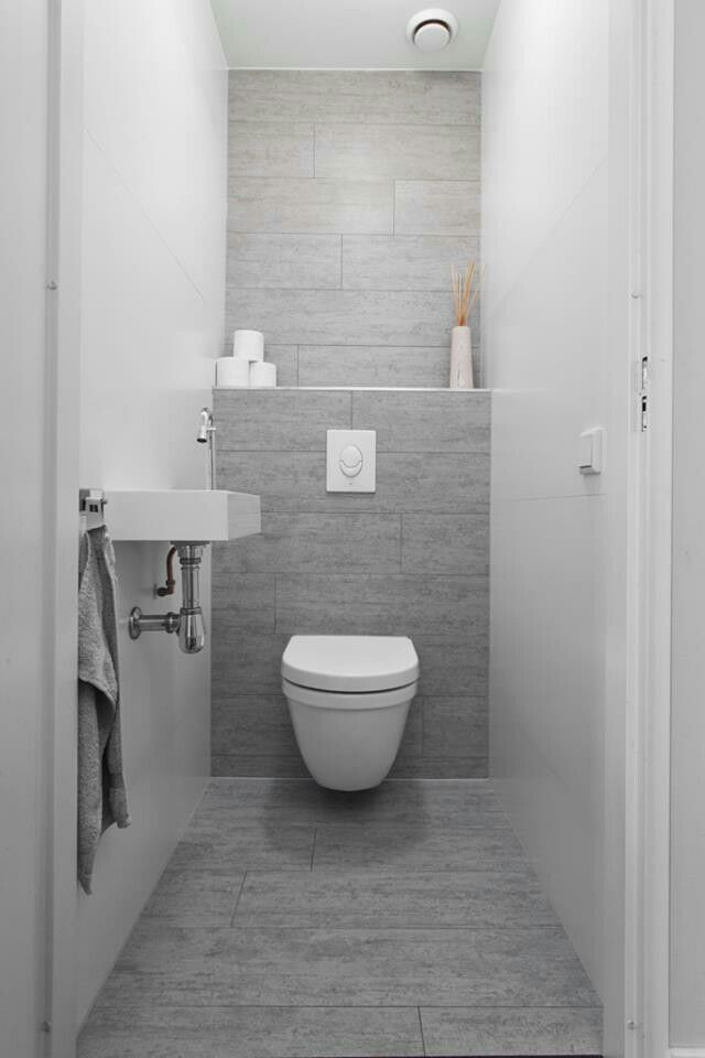 grey tile behind the toilet seat - Toilet Design Ideas