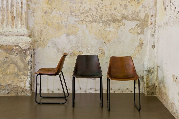 BePureHome - Rough stoel. Leren stoel, leather chair, Ledersessel, fauteuil en cuir.