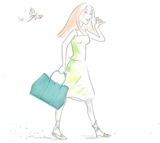 Herm¨¨s Fourbi Hermes bag insert in blush \u0026quot;Carr¨¦ en Cravates\u0026quot; silk ...