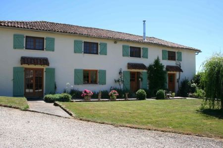 Country house / Manoir for sale in Charroux, France : Small Country Estate with Lake, Gite, 2 detached houses + Granny Annexe