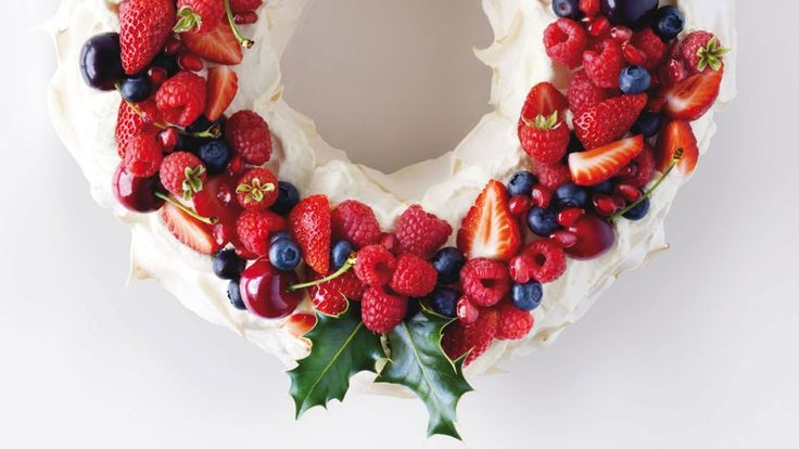 Celebrating mid-winter Christmas? This wreath-shaped pavlova will get you in the festive spirit.