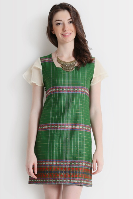 DUTZIE Olive Tenun Dress Indonesia