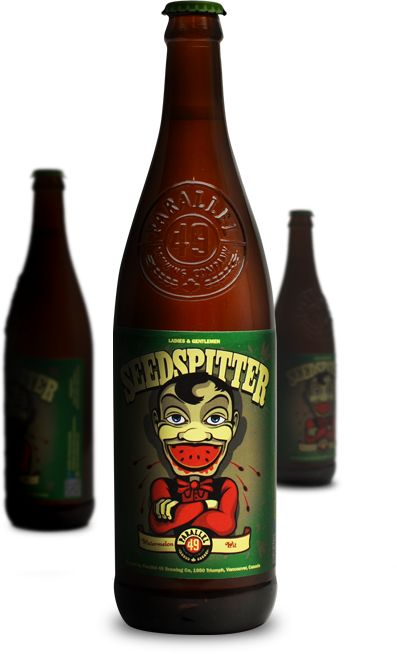 One of our gorgeous new draught beers available in Pints or Imperials. Seedspitter by Parallel 49 Brewing Company. A Belgian style Witbier made with a Watermelon twist. Brewed just a few blocks away!  www.parallel49brewing.com